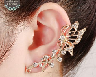 Exquisite Butterfly Earrings - Ear Climbers - Halloween Accessory
