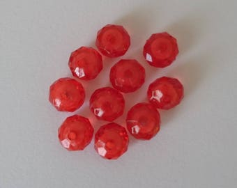 Set of faceted beads