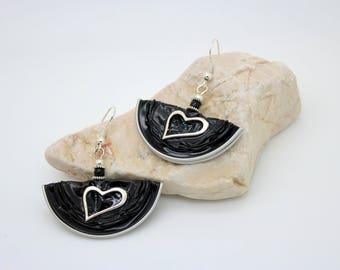 Earrings on Nespresso Capsules * hearts *.