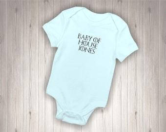 Personalised Game of Thrones Inspired Baby Bodysuit