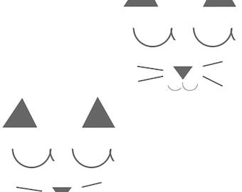 Cat pattern fabric
