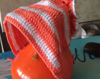 Crochet baby girl lace cap