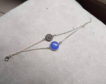 lavender blue Bohemian double bracelet