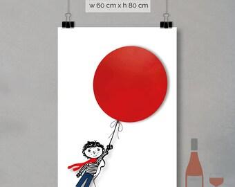 print - red balloon (60 x 80cm)