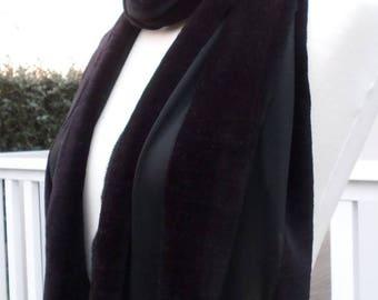 Nice black veil and velvet women shawl