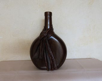 Vase: bottle draped