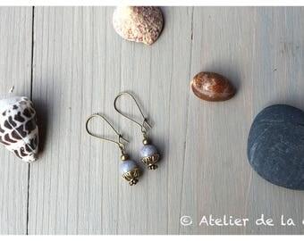 Jade Dove collection Iris earrings