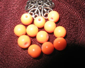 Stone howlite color way orange 6 mm 50 beads