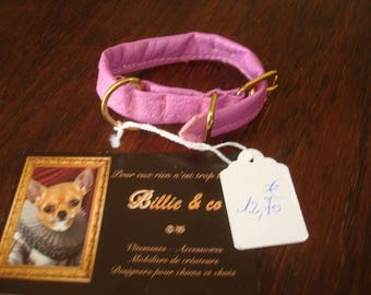Faux leather dog or cat collar
