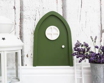Green wooden GNOME doors
