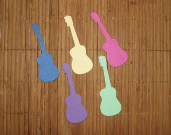 5 cuts for your scrapbooking creations, lot 58 guitars.