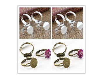 12MM / 10 12 mm cabochon ring holders