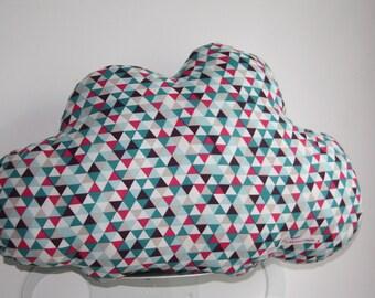 Multi-color graphic print cloud cushion