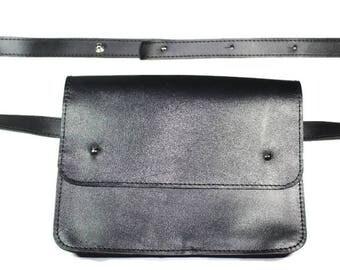 Leather fanny pack Leather pocket bag Hip bag leather  Bum bag leather  Leather pouch belt Leather belt bag  Leather waist bag  purse Fanny