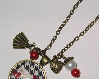 Necklace cabochon 25 mm * Bon Chic good kind jewel *.