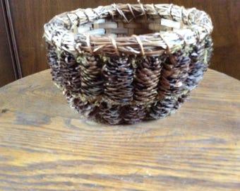 Vintage Pinecone Basket