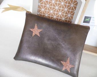 "Sleeve flat ""stars"" Brown & copper prints"