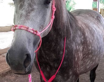 Ethological horse Halter rope and seed beads