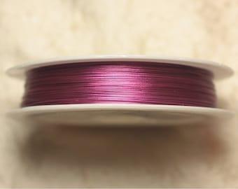 Spool 70 m - wire Metal Wire 0.38 mm Magenta Fuchsia pink - 4558550019431