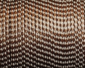 5 Metters - chocolate 4558550012609 and 2mm white wax cotton cord