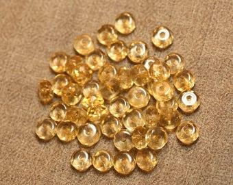 5pc - stone beads - Citrine faceted Rondelle 4558550027511 7x4mm