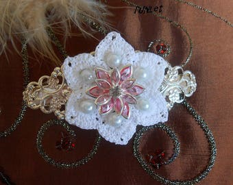 crochet flower Hair barette
