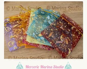 10 12x9cm mixed color organza bags