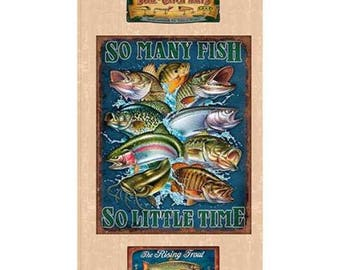 So Many Fishes panel from Quilting Treasures