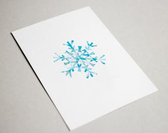 Snowflake Christmas Cards (x5)