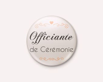 Badge wedding Chic and Elegant - officiating ceremony