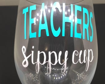 Teachers sippy cup