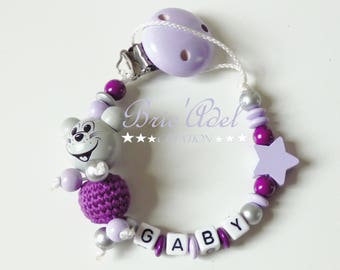 personalized girl pacifier clip / personalized pacifier