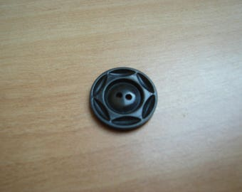 vintage Brown button with star shape