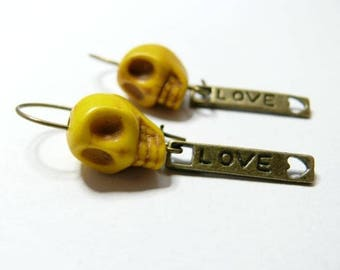 Love the Death yellow earring