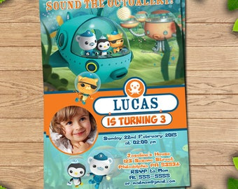 Octonauts birthday, Octonauts invitation, Octonauts party, Octonauts printable, Octonauts invite, Octonauts