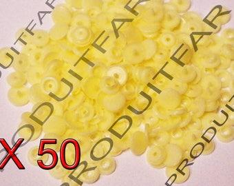 Set of 50 snap resin Kam T5 color Beige 12 mm