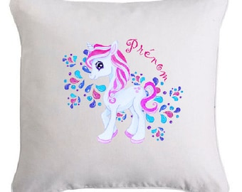 Personalized Unicorn WATERCOLOR pillow