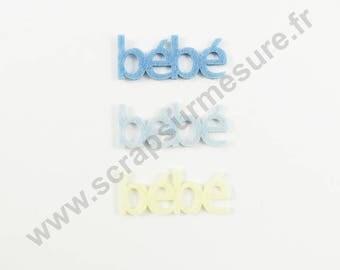 Felt - Baby blue 45mm - 6 pcs x