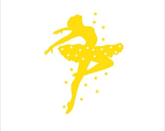 Stickers star dancer wall art for home decoration, deco child for a fan of dance