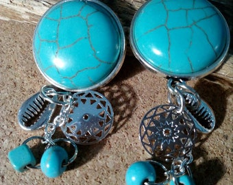 Turquoise, bright and Bohemian earrings