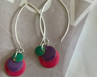 Earrings three different colors