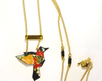 LeksArt Hummingbird necklace. Hachidori ハチドリ