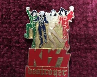 vintage 1989 Kiss Destroyer Pin