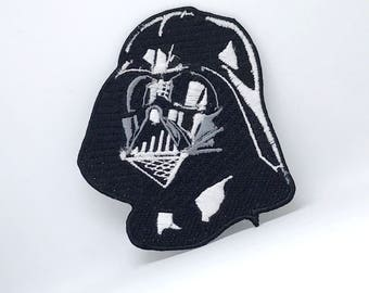 603# Darth Vader Star Wars Embroidered Iron /Sew on Patch