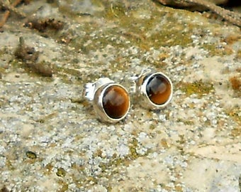 925 sterling silver Tiger eye chips
