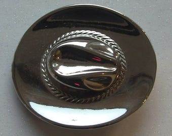 country belt buckle in the shape of hat