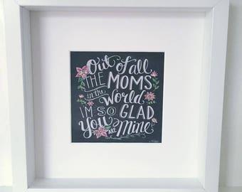 Mum Box Frame Gift