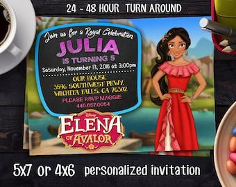 Elena of Avalor Invitation - Elena of Avalor Invite - Elena of Avalor Invitation - Birthday Party