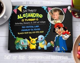 Pokemon Invitation. Pokemon GO Invitation, Pokemon Birthday Invitation, Pokemon Invite. Digital File. Pokemon Birthday Card. Pokemon Party