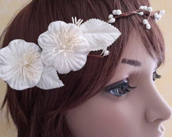Headband flowers you ivory